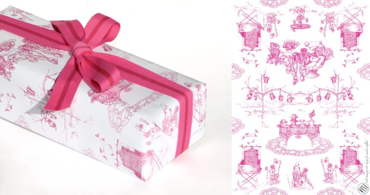 South African Toile wrapping paper1