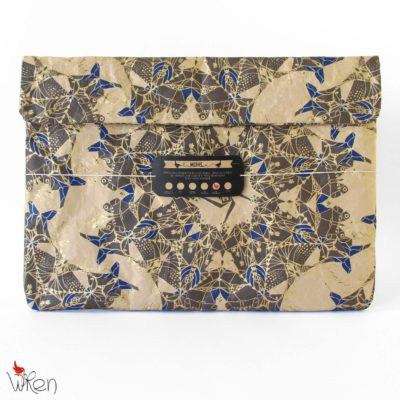 Moths Indigo Laptop Sleeve