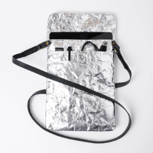 Wren Silver iPad Sleeve Open with strap lres