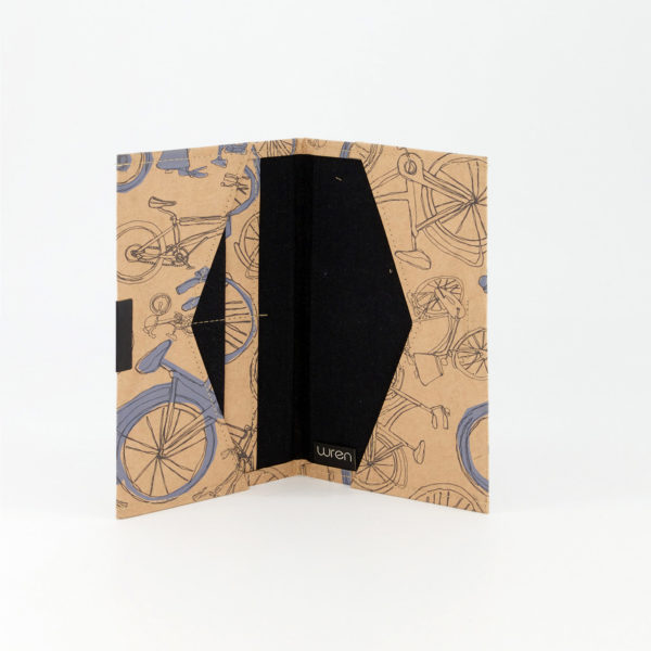 Blue Bicycles Travel Folder Open