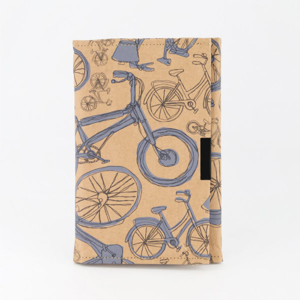 Blue Bicycles White B6 Notebook Front