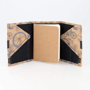 Blue Bicycles White B6 Notebook Open