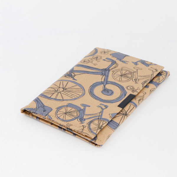 Blue Bicycles White B6 Notebook Side