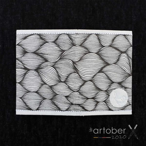 WrenArtober2020 Kirsten de Vries White Slim Wallet 3