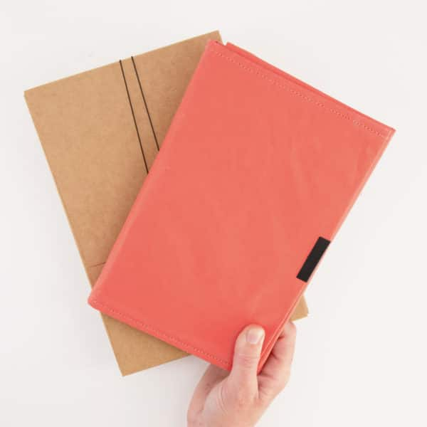 Wren Notebook persimmon frontwithpackaging