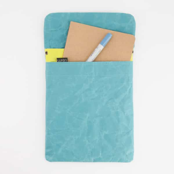 Wren Teal ipad openfull
