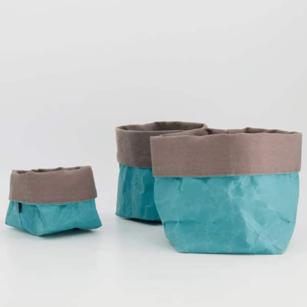 Wren Teal paper tub set LR